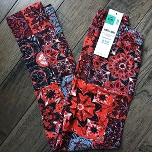 Kids Red Kaleidoscope Leggings NWT